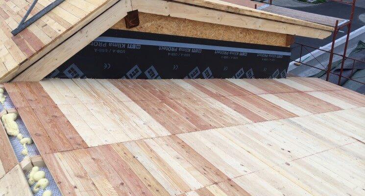 Dachsanierung Großgmain Bauphase