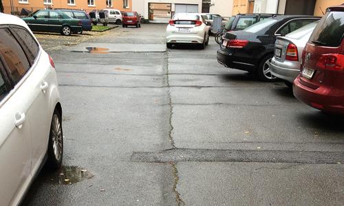 Neuherstellung Parkplatz